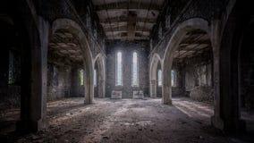 Chiesa abbandonata in Galles fotografia stock libera da diritti