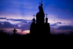 Chiesa al tramonto Fotografia Stock Libera da Diritti