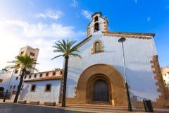 Chiesa Alicante di Placeta del Convent della città di Javea Xabia Fotografia Stock Libera da Diritti
