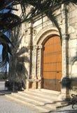 Chiesa in Aljucén, Spagna Immagini Stock