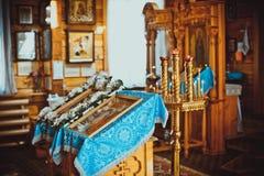Chiesa all'interno Immagine Stock
