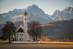 Chiesa alle luci di mattina Immagini Stock Libere da Diritti