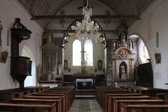 Chiesa - alta moda-sur-Loir - la Francia Fotografia Stock
