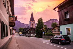 Chiesa in Altaussee l'austria Fotografia Stock
