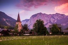 Chiesa in Altaussee l'austria Fotografie Stock