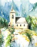 Chiesa in Altmunster Fotografie Stock