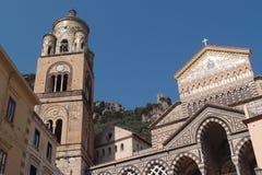 Chiesa a Amalfi Italia Immagini Stock Libere da Diritti