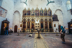 Chiesa in Ananuri Fotografia Stock