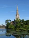 Chiesa Anglicana a Copenhaghen Fotografia Stock Libera da Diritti
