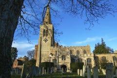 Chiesa antica del ` s di St Mary in Buckden, Cambridgeshire Fotografia Stock Libera da Diritti