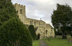 Chiesa antica della trinità santa in grande Paxton, Cambridgeshire Inghilterra Fotografie Stock Libere da Diritti