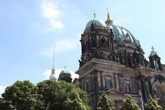 Chiesa antica di Berlin Germany Immagini Stock Libere da Diritti