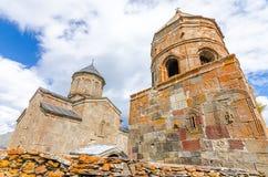 Chiesa antica sul supporto Kazbek in Georgia Immagini Stock Libere da Diritti
