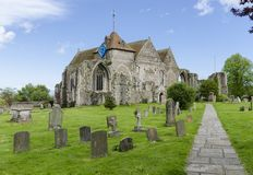 Chiesa antica a Winchelsea, East Sussex, Regno Unito fotografia stock