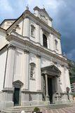 Church of St. John the Baptist in Predore, Italy. The Chiesa Arcipresbiteriale di San Giovanni Battista Archipresbyterial Church of St. John the Baptist in royalty free stock photo