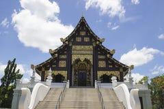 Chiesa asiatica del tempio di arte fotografia stock