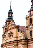Chiesa barrocco in città storica Ludwigsburg, Germania fotografia stock libera da diritti