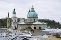 Chiesa barrocco dalla vista superiore fotografia stock libera da diritti