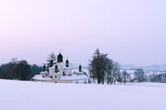 Chiesa barrocco della trinità più santa Immagini Stock Libere da Diritti
