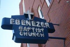 Chiesa battista di Ebenezer, Atlanta fotografie stock