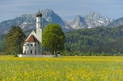 Chiesa in Baviera Immagini Stock