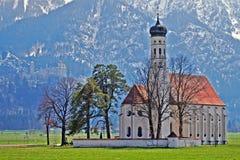 Chiesa in Baviera rurale, Germania del sud Fotografia Stock
