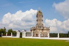 Chiesa benedetta della Mary di Virgin in Dubrovitsy. La Russia Immagini Stock Libere da Diritti