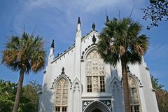 Chiesa bianca Fotografia Stock