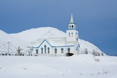 Chiesa bianca Immagine Stock