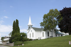Chiesa bianca immagini stock
