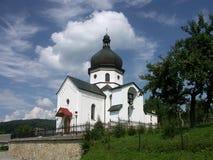 Chiesa bianca Fotografie Stock