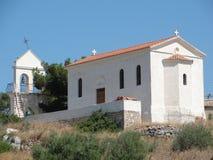 Chiesa bianca greca Fotografie Stock