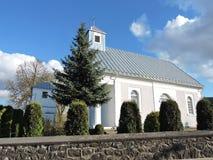 Chiesa bianca, Lituania Fotografia Stock
