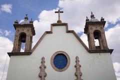 Chiesa bianca nel Messico Fotografia Stock
