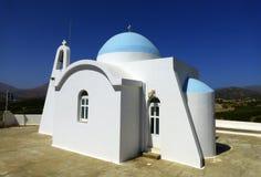 Chiesa bianca su Creta Immagine Stock