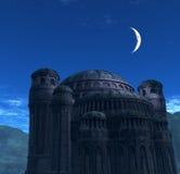 Chiesa bizantino alla notte Immagine Stock