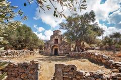 Chiesa bizantino di Agii Apostoli in Naxos Fotografie Stock Libere da Diritti