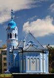 Chiesa blu Fotografie Stock Libere da Diritti
