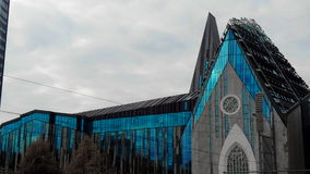 Chiesa blu Fotografia Stock