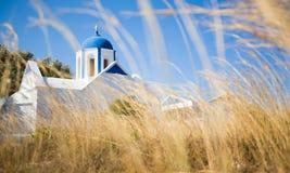 Chiesa blu della cupola Immagine Stock Libera da Diritti
