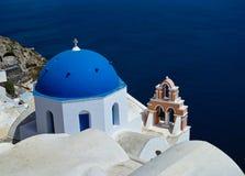 Chiesa blu della cupola immagine stock