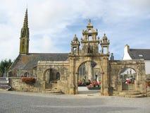 Chiesa in Bretagna Immagini Stock