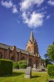 Chiesa bricked rosso Fotografia Stock Libera da Diritti