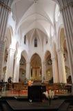 Chiesa a Bruxelles sul posto Flagey fotografia stock libera da diritti