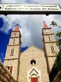 Chiesa, Bteghrine, Libano Immagini Stock Libere da Diritti