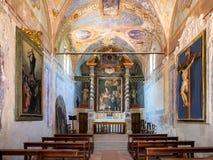 Chiesa Buon Gesu on Isola Maggiore in Trasimeno Lake in Umbria Royalty Free Stock Photos