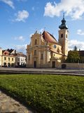 Chiesa Carmelite nella città di Gyor, Ungheria Fotografie Stock Libere da Diritti