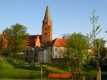 Chiesa case storiche Fotografie Stock Libere da Diritti