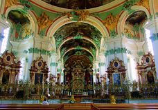 chiesa, cattedrale, interno, religione, architettura, altare, cattolico, st, vecchia, dentro, cappella, arte, punto di riferiment Fotografia Stock