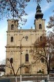 Chiesa cattolica armena in Dumbraveni, Romania fotografia stock